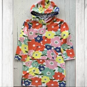 Mini Boden Bright Hooded Floral Terry Beach Cover